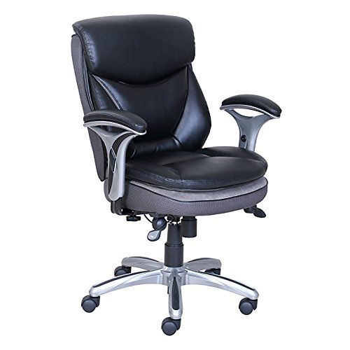 Serta Smart Layers Verona Manager Chair Blacksilver This Extra Large Office Is Made With The Innovative Premium Elite 5 Layer Cushioning