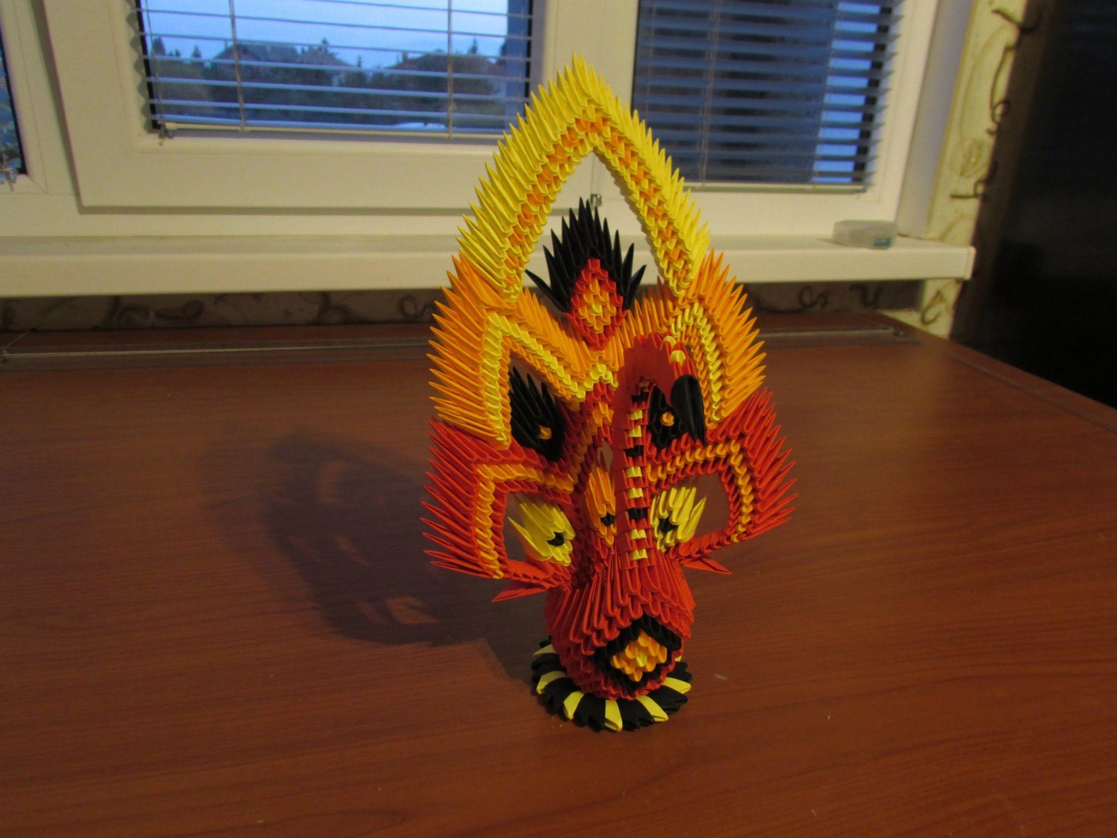 3D Origami Peacock Tutorial | * Origami * | Pinterest ... - photo#29