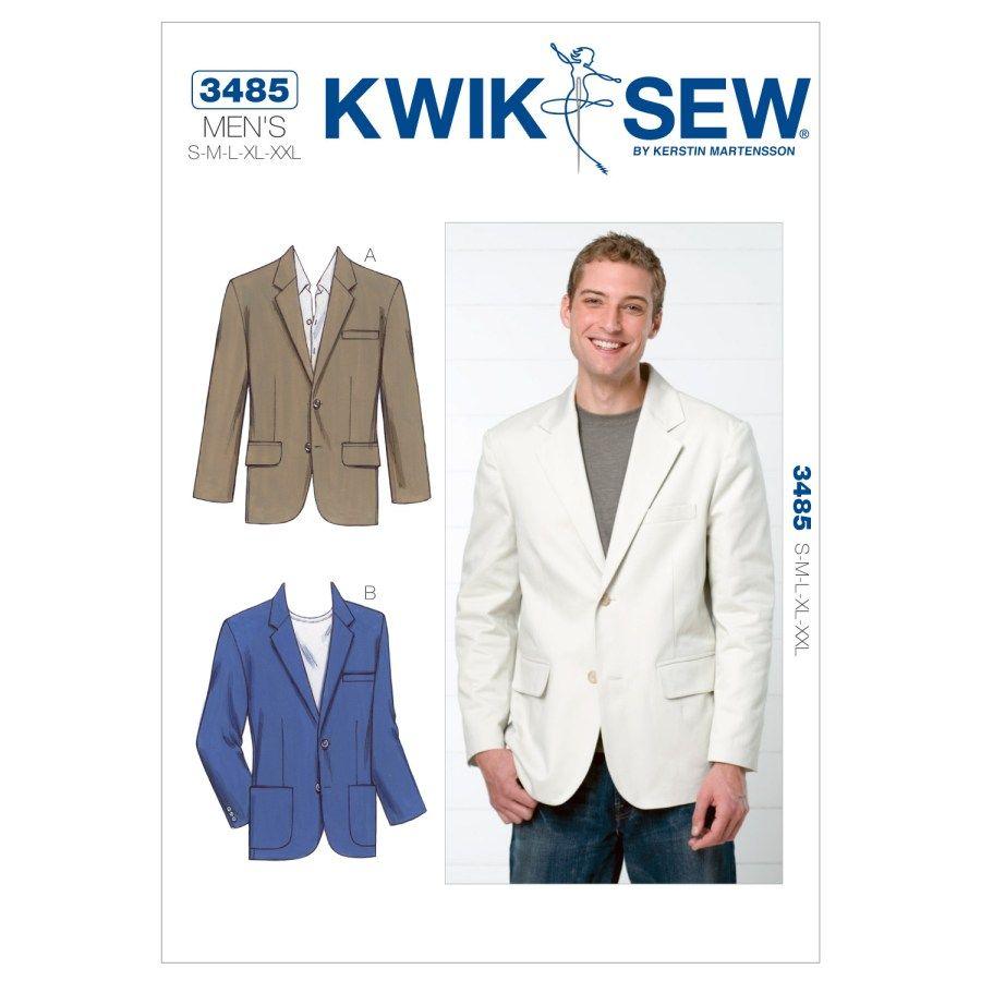 Kwik Sew 3713 Size S-XXL Men/'s One Piece Pajamas with Feet Sewing Pattern