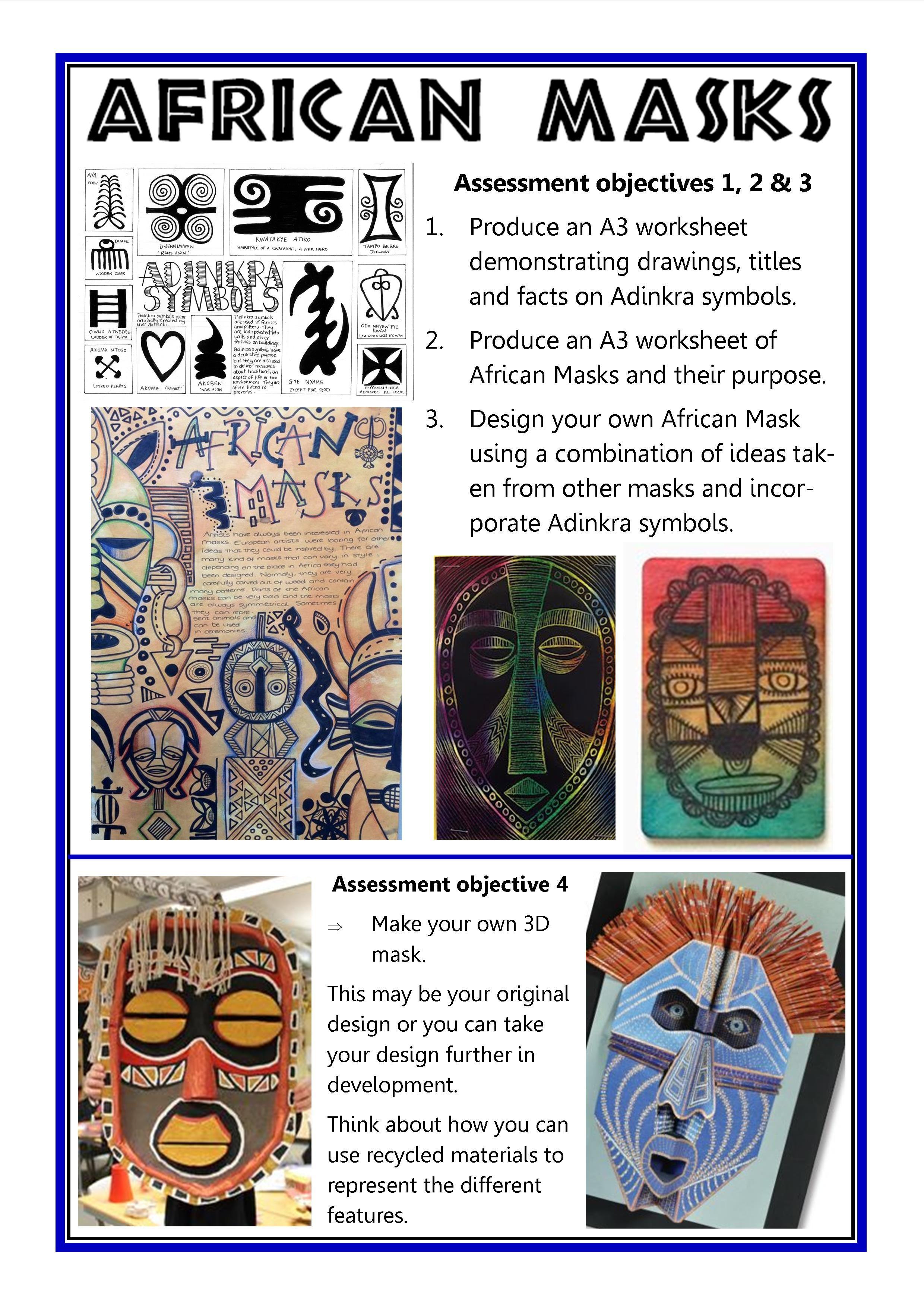 African Masks Gcse Art Checklist