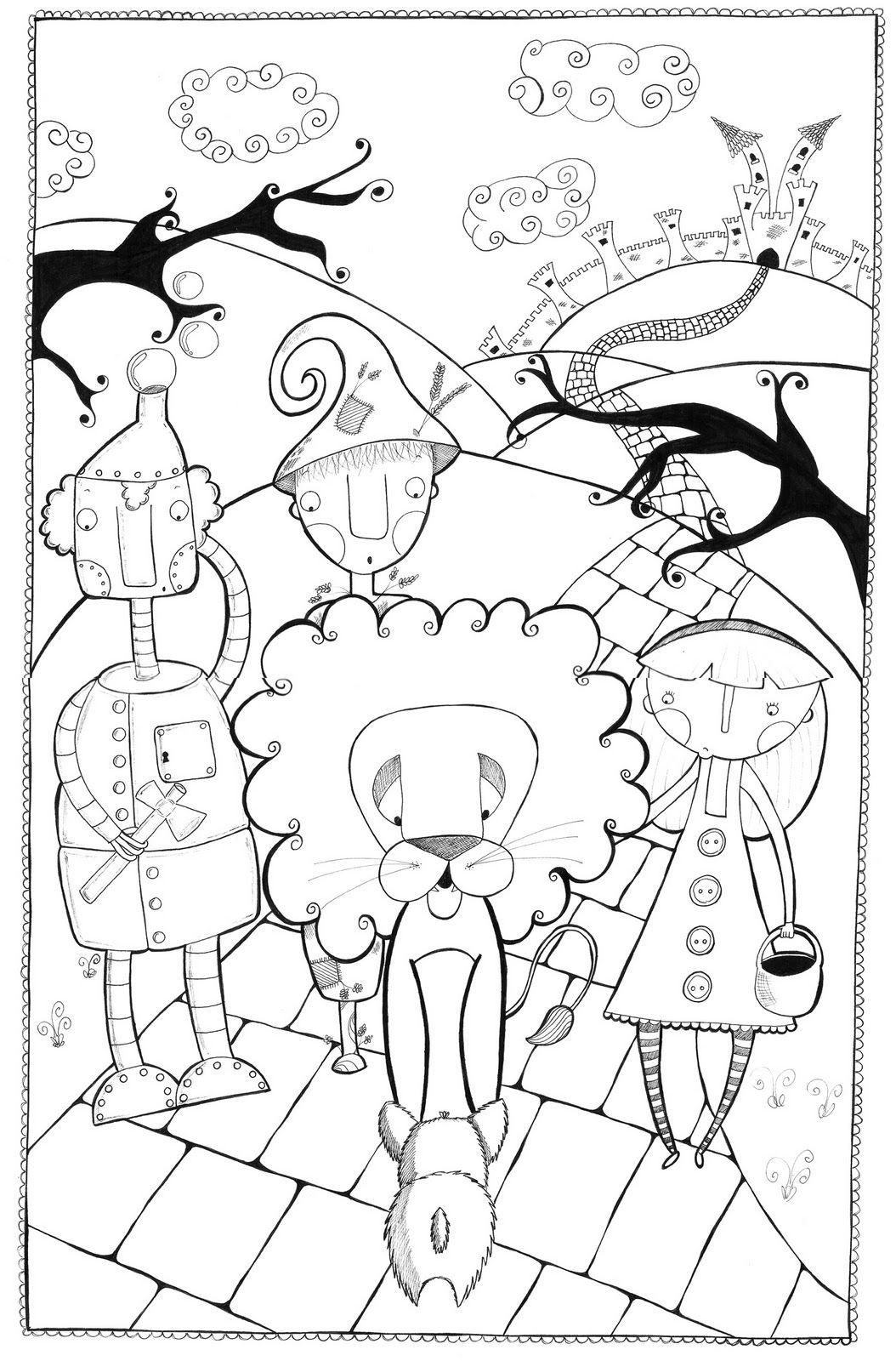 Dibujo para colorear de El Mago de Oz  mundo mgico de Oz