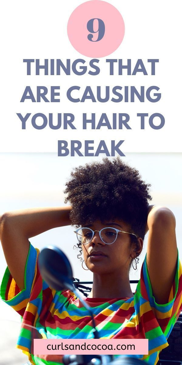 9 things that you are doing that is causing your natural hair breakage. Learn the difference between hair shedding vs breaking #naturalhair #hairbreakage #hairproblems #naturalhairtips
