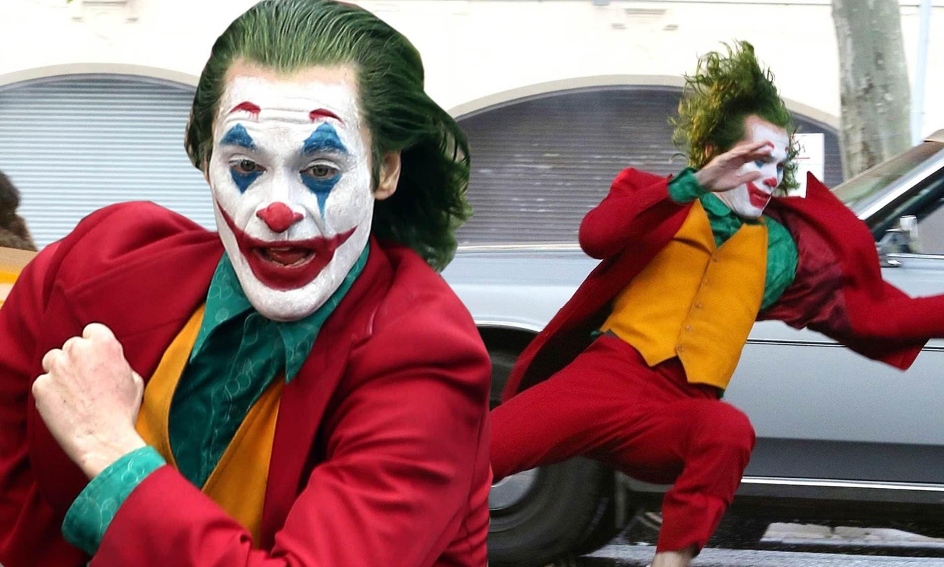 Joaquin Phoenix spotted in full costume as Joker running