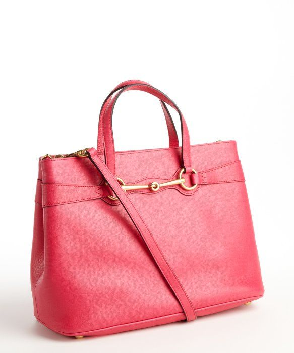 307cf7e1c66c Gucci fuschia leather 'Horse Bit' convertible tote bag... :/... @vallan  jensen