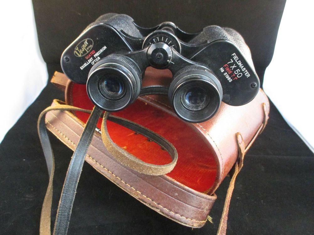 Vintage Vesper Optic Fieldmaster Binoculars 7x50 In