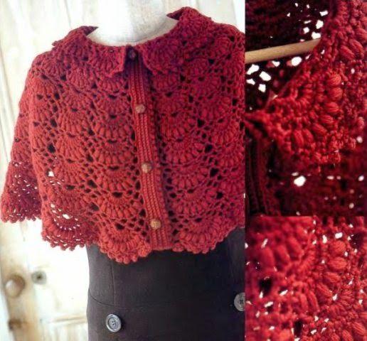 Loza: crochet Cape | CROCHET CLOTHES | Pinterest | Häkeln