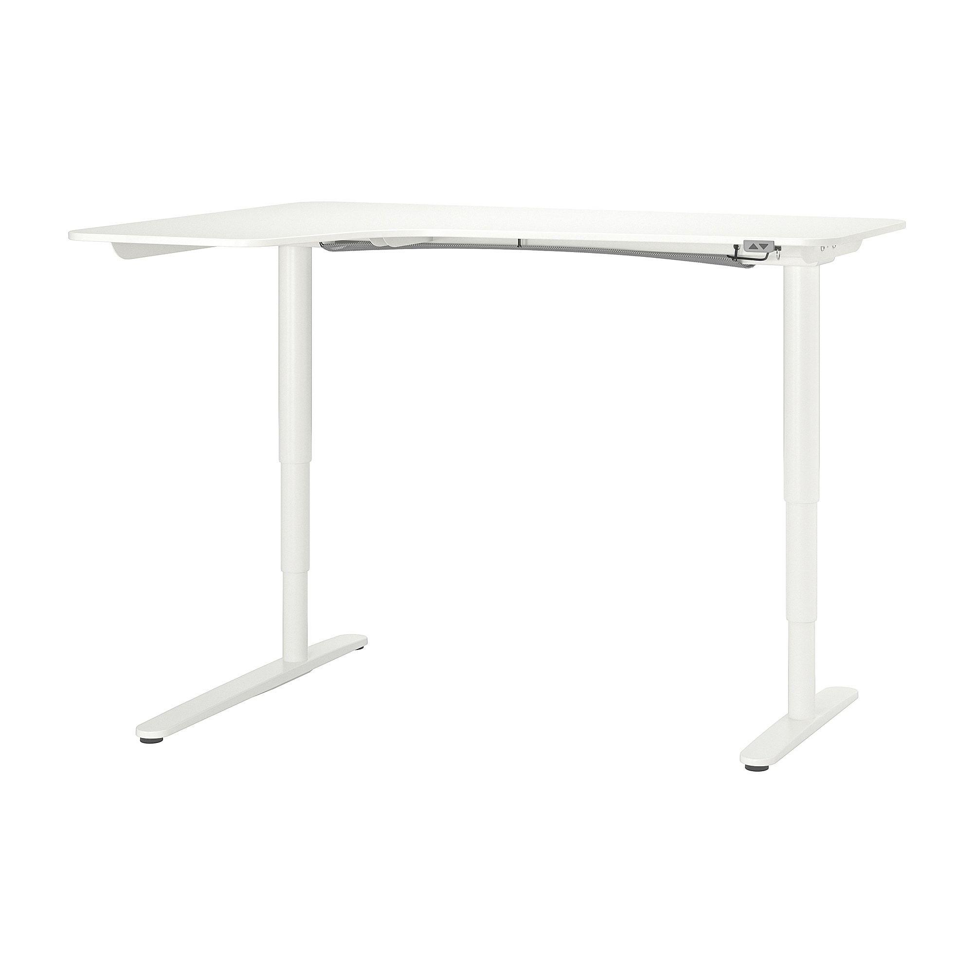 Ikea Bekant White Corner Desk Left Sit Stand Corner Desk White Corner Desk Ikea Bekant