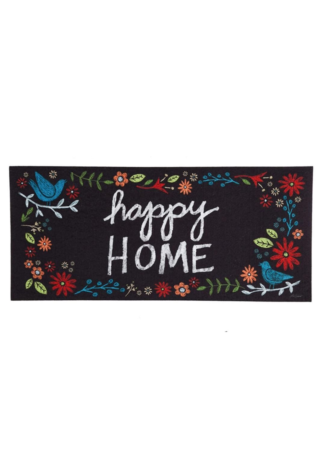 Sassafras Happy Home Mat Insert Size 10 X 22 X 0 2 Happy Home Mat By Evergreen Enterprises Home Gifts Home Decor Door Mat Evergreen Enterprises Happy