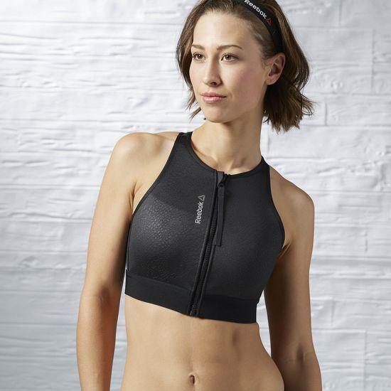 c926d291 Reebok - Cardio Zip Crop Shirt   Thinspiration   Zip bra, Reebok ...