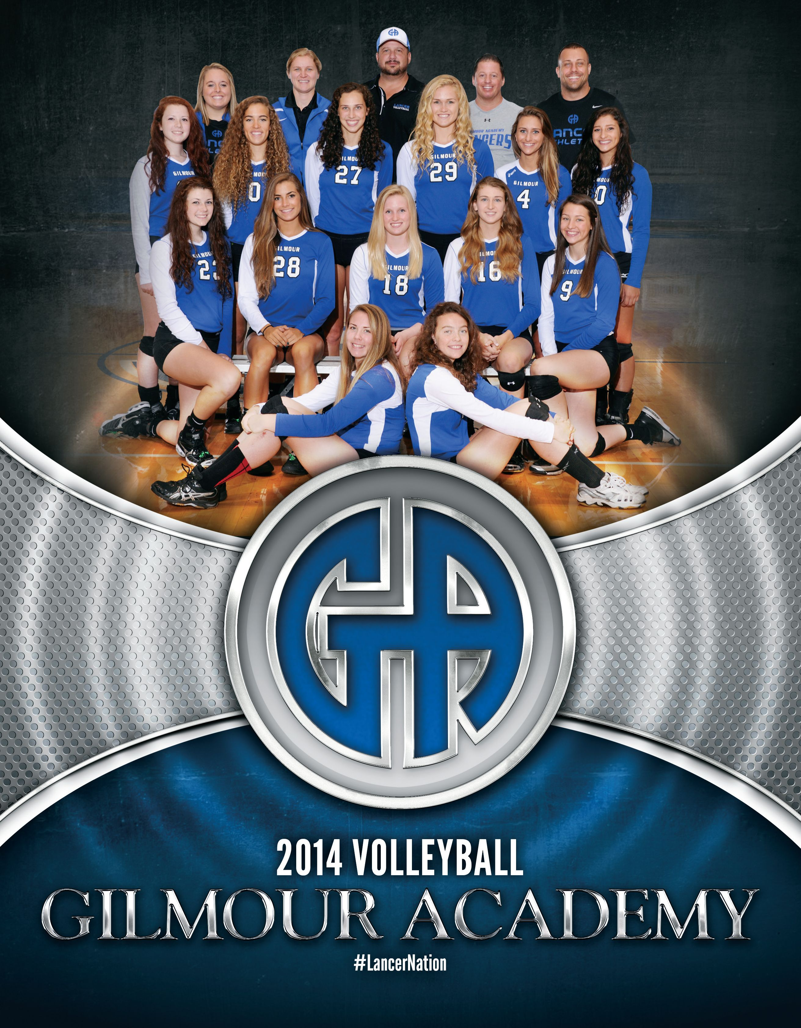 2014 Volleyball Media Guide Cover Captain America Fictional Characters Superhero