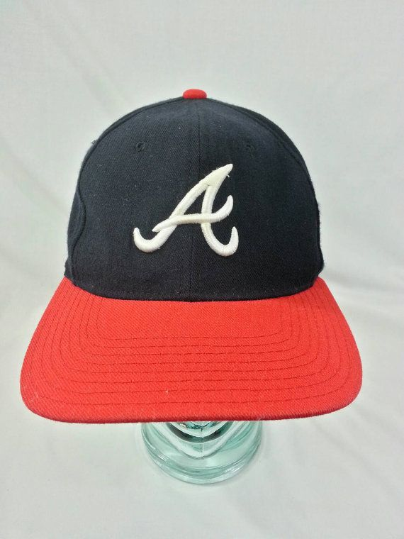 Vintage 90s Atlanta Braves Snapback Hat by American Needle MLB Baseball  f6f740359720