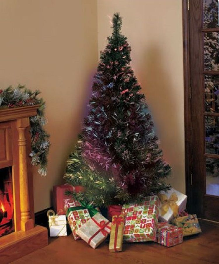 Christmas Tree 6 Ft W Stand Fiber Optic Color Changing Holiday Decor Artificial Unb Fiber Optic Christmas Tree Colorful Christmas Tree Holiday Christmas Tree