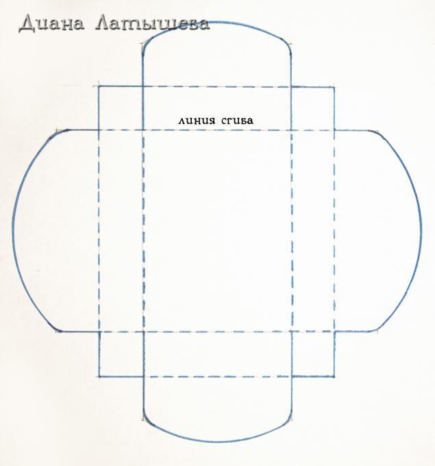 Коробочка для открытки шаблоны