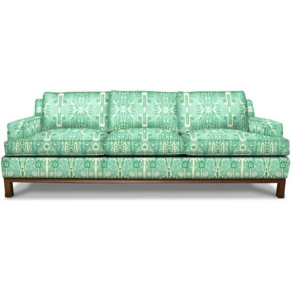 Jonathan Adler Butterfield Sofa (1,280 KWD) ❤ liked on Polyvore featuring home, furniture, sofas, fabric furniture, jonathan adler, fabric couches, polish furniture and jonathan adler couch