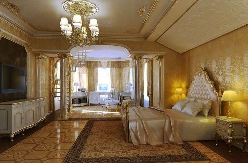 Aristocrat Luxury Gold Bedroom Design Ideas