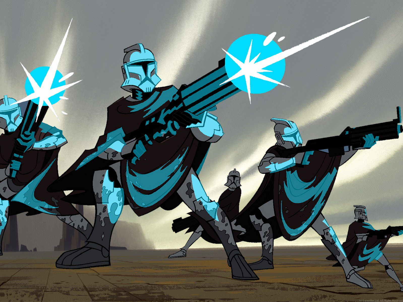 The clone wars 2003 2005 something something - Dessin stars wars ...