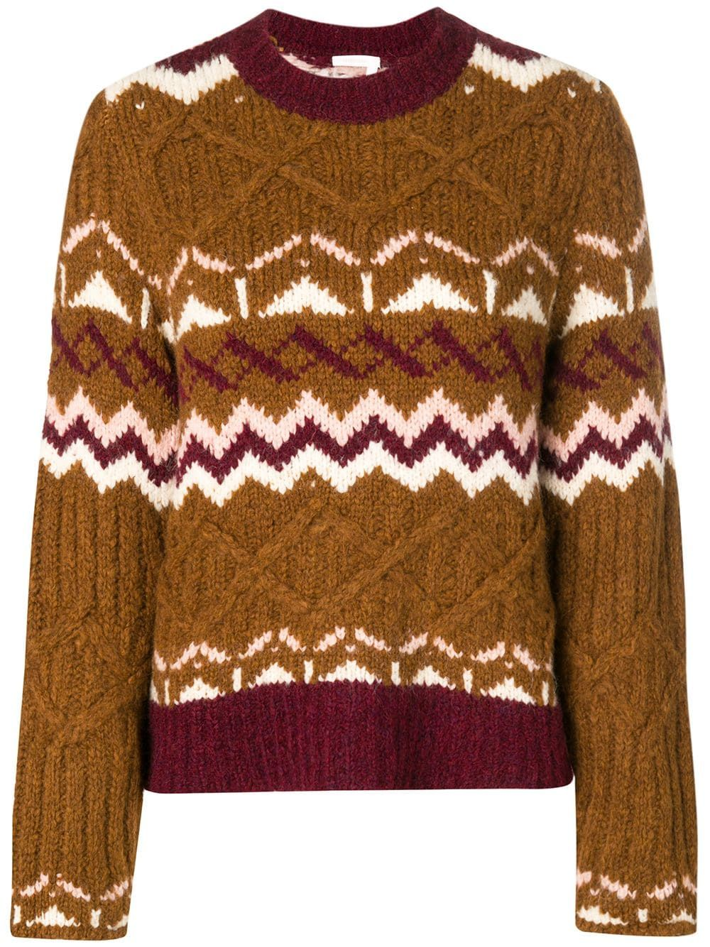 e88180d093d See By Chloé chunky knit patterned jumper - Brown in 2019 | Products ...