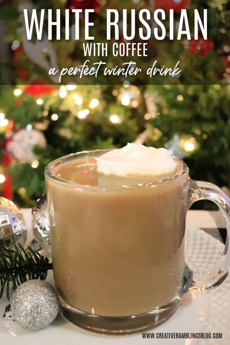 Hot White Russian Hot White Russian Hot white russian with coffee a delicious winter drink. Drink this white russian with coffee on Christmas morning, enjoy this white russian