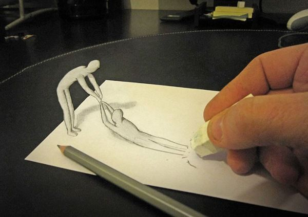 Vuing com amazing 3d pencil drawings with a life of their own