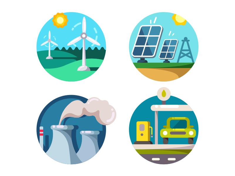 Energy Saving Icons Energy Saving Technology Energy Logo Business Vector Illustration