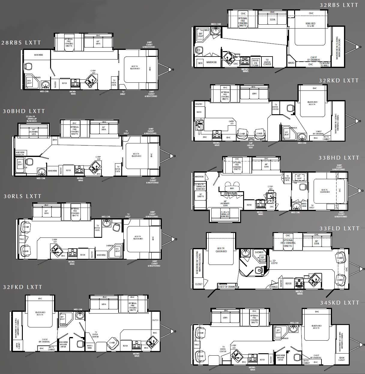 Travel Trailer Floor Plans Under 30 Feet
