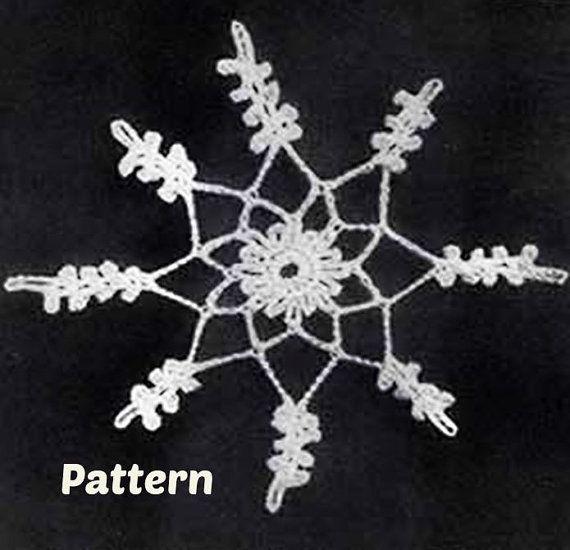 Crochet SNOWFLAKE Ornament Patterns Vintage 40s by Liloumariposa ...