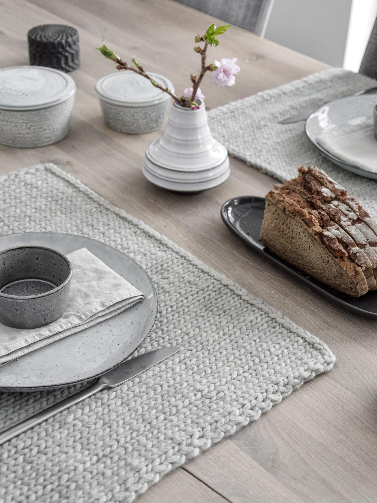 DIY | gestrickte Tischsets selber machen - mxliving