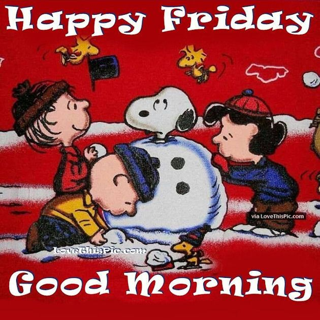 Funny Friday Morning Meme : Winter snoopy happy friday good morning quote friends