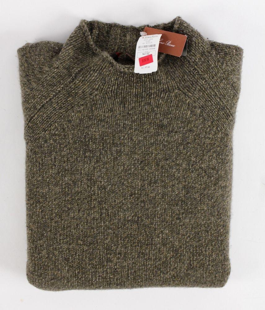 1197 Nwt Loro Piana 100 Cashmere Mockneck Sweater