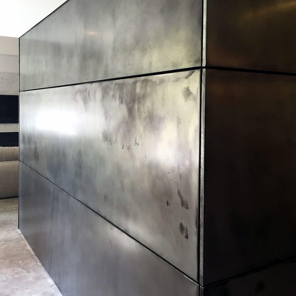 Zinc Amour Sheet Metal Metal Wall Panel Sheet Metal Wall Metal Fireplace