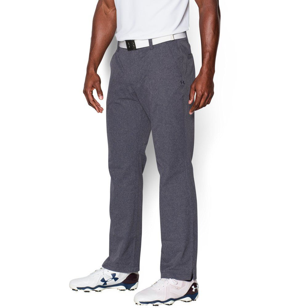 Under Armour Mens Match Play Vented Pants Stealth Gray