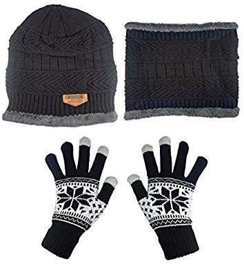 993cfcf17c557 HINDAWI Womens Beanie Winter Hat Scarf Set Slouchy Warm Snow Knit Skull Cap