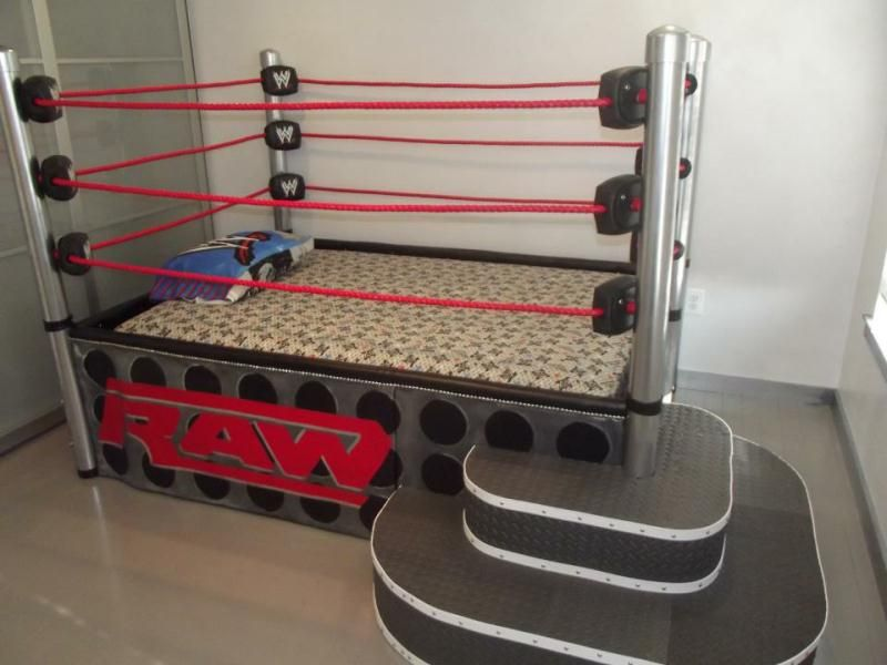 Wrestling Bedroom Decor Entrancing A Wrestling Ring Bed No One Would Sleepjust Play P  My Dream Decorating Inspiration