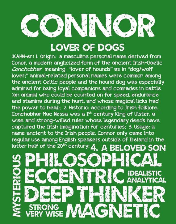 CONNOR Personalized Name Print / Typography Print / by