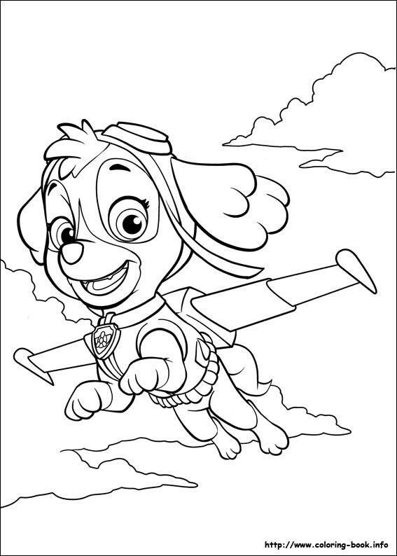 skye paw patrol coloring pages