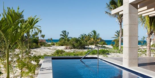 All Inclusive Honeymoon Beach Front Casita Suite With Private Pool 1098 Square Feet Including Balcony Terrace A Cancun Hotels Excellence Resorts Cancun