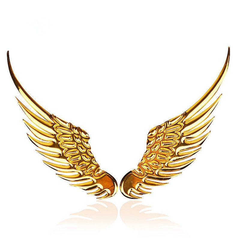 Gold Wings Ide Tato Bingkai Emas