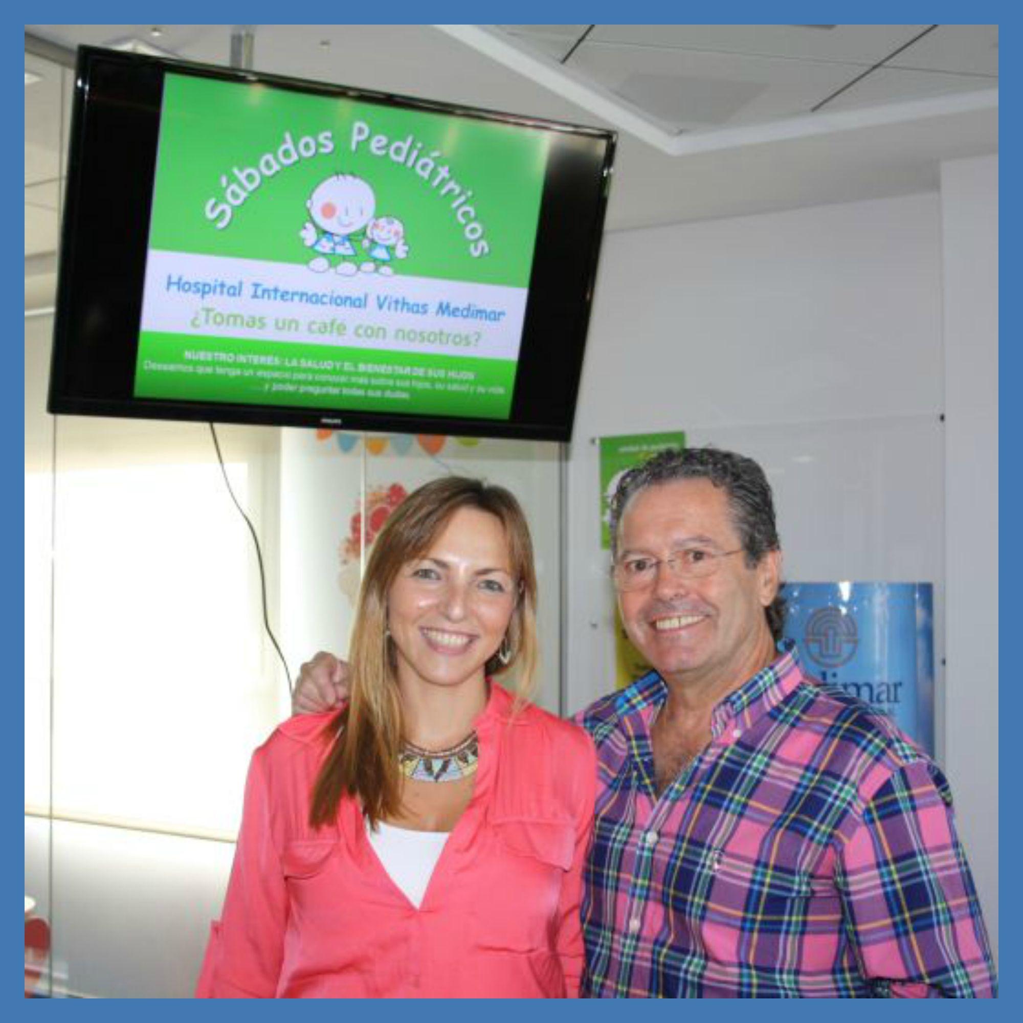 La Dra. L.Galán y el Dr. A.Redondo, pediatras de Medimar, expusieron distintos temas relacionados con la vuelta al cole, que fue seguido de un animado coloquio que se prolongó casi una hora y media.