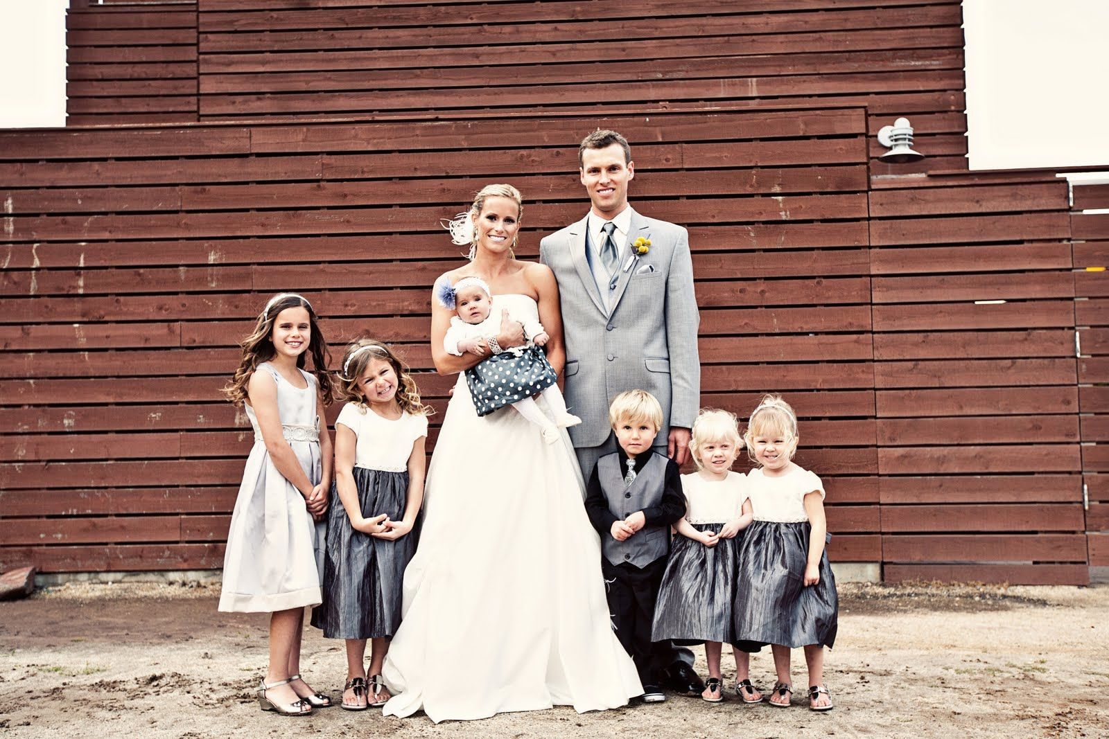 Heavenly blooms yellow and grey modern beach wedding with rustic