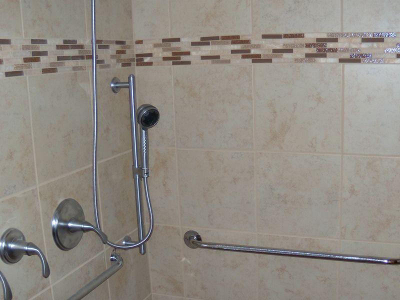Grab Bars In A Walk In Shower