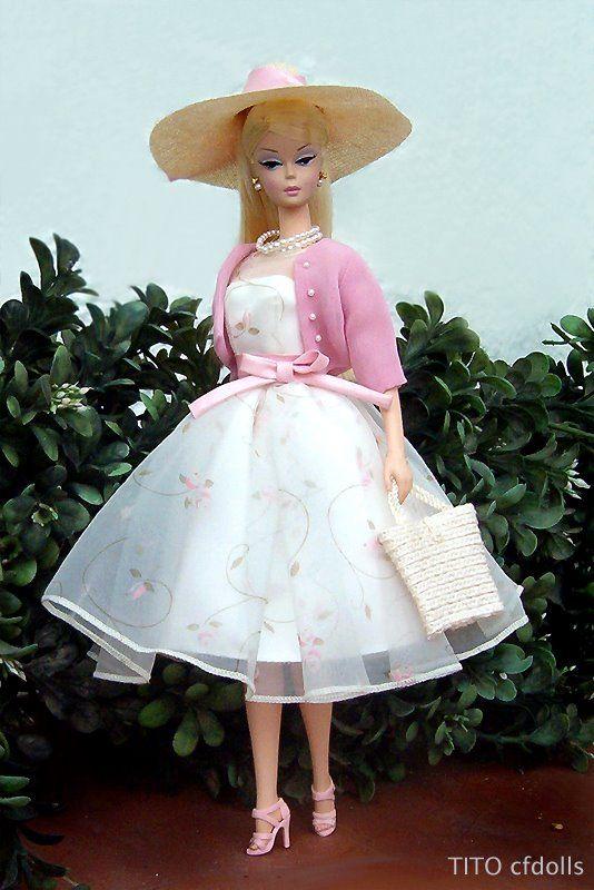 Vintage Barbie Dresses for Garden Party