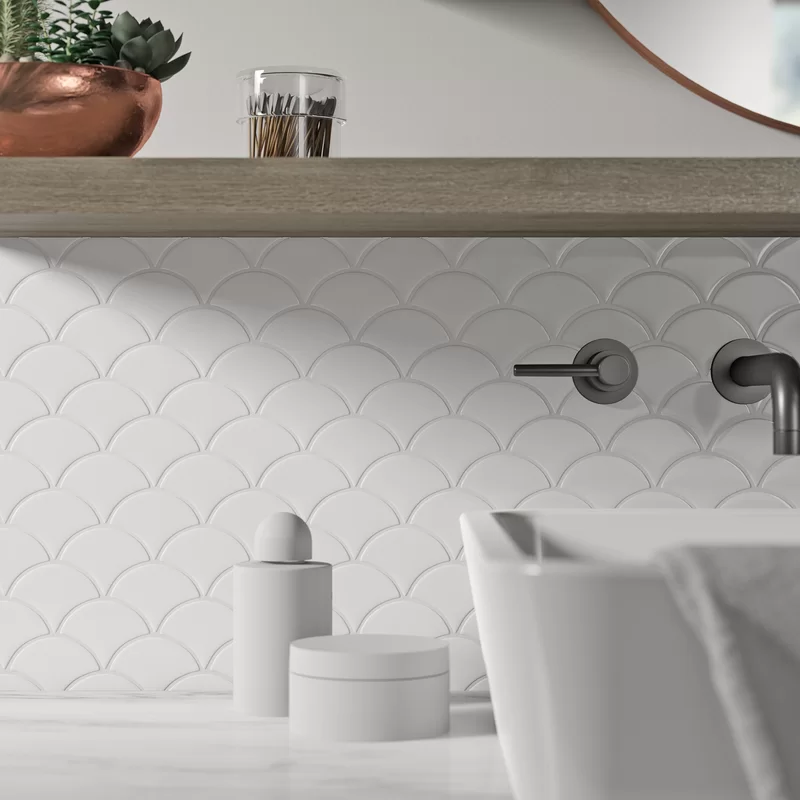 Liam 10 X 13 Porcelain Mosaic Tile Allmodern In 2020 Porcelain Mosaic Tile Porcelain Mosaic Modern Backsplash