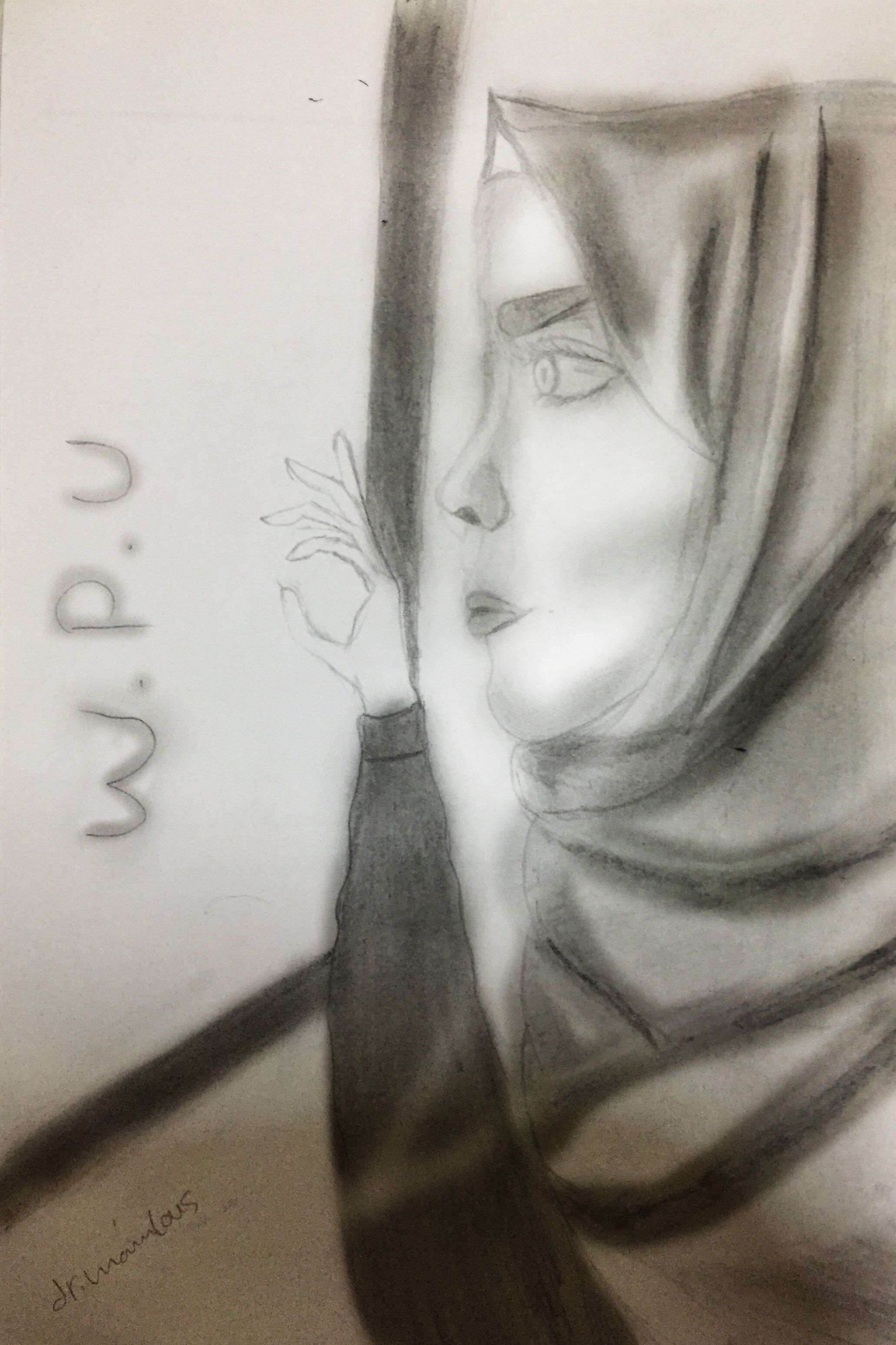 W P U Male Male Sketch Art