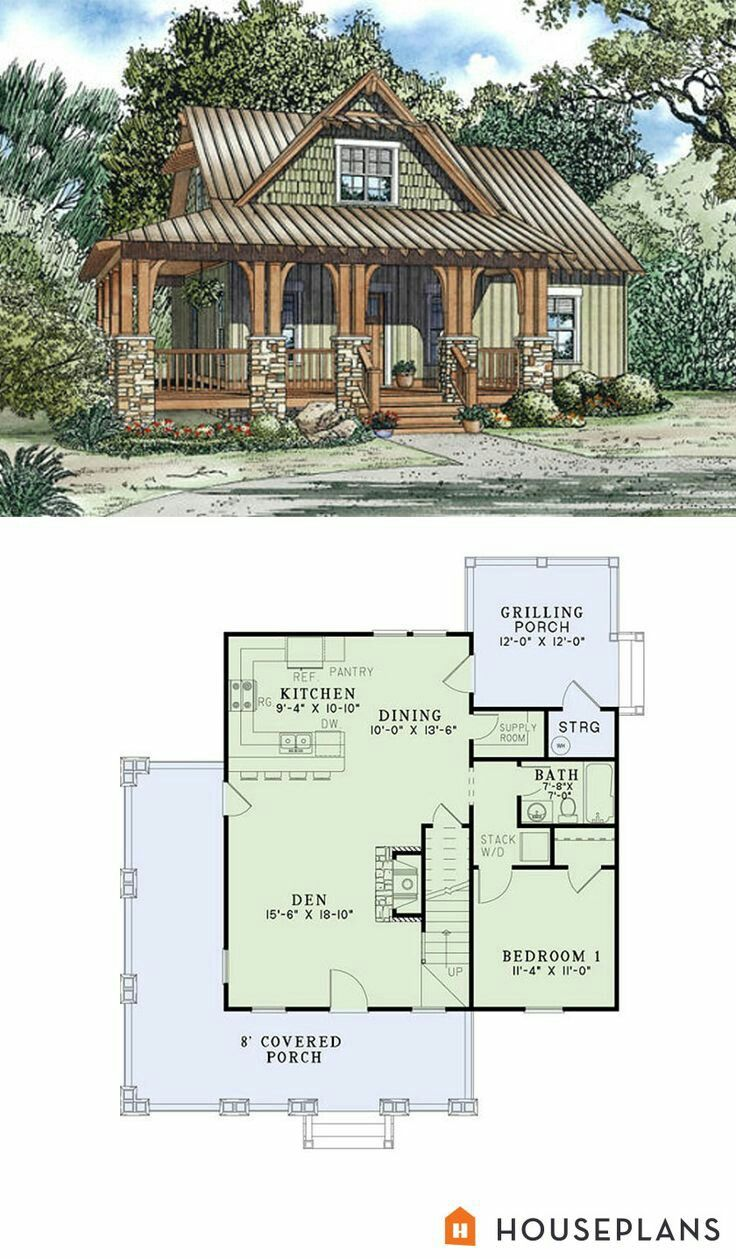 Like The Look I Like Stone With Wood And Contrast Of Colors Craftsman Style House Plans Country House Plans Cottage Plan
