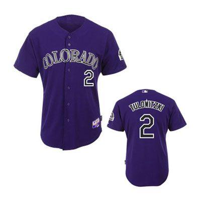 brand new b60b5 78efe Troy Tulowitzki Jersey, Colorado Rockies #2 Purple MLB ...