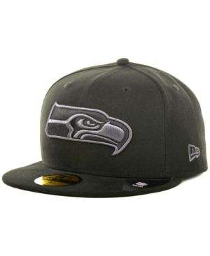 57dcb428 New Era Seattle Seahawks Black Gray 59FIFTY Cap - Black 7 1/4 ...