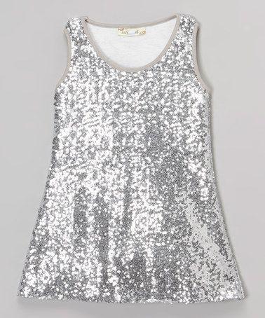 a7e8af3324b1 Loving this Silver Sequin Shift Dress - Infant, Toddler & Girls on #zulily!  #zulilyfinds