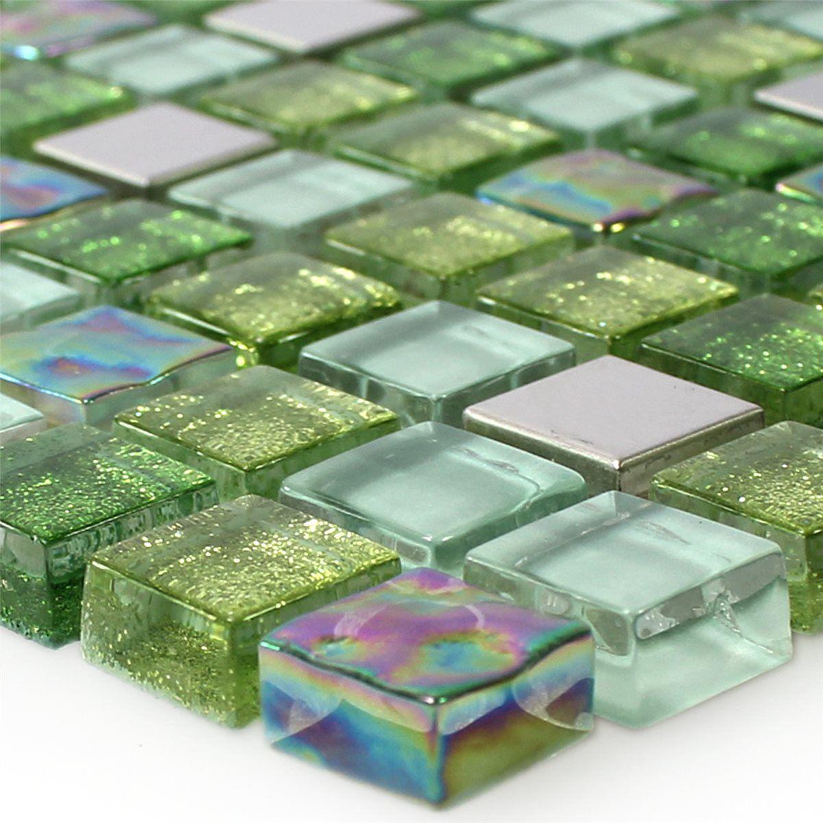 Glas Edelstahl Mosaik Fliesen Grün Mix BATH Pinterest Tile Art - Mosaik fliesen outlet
