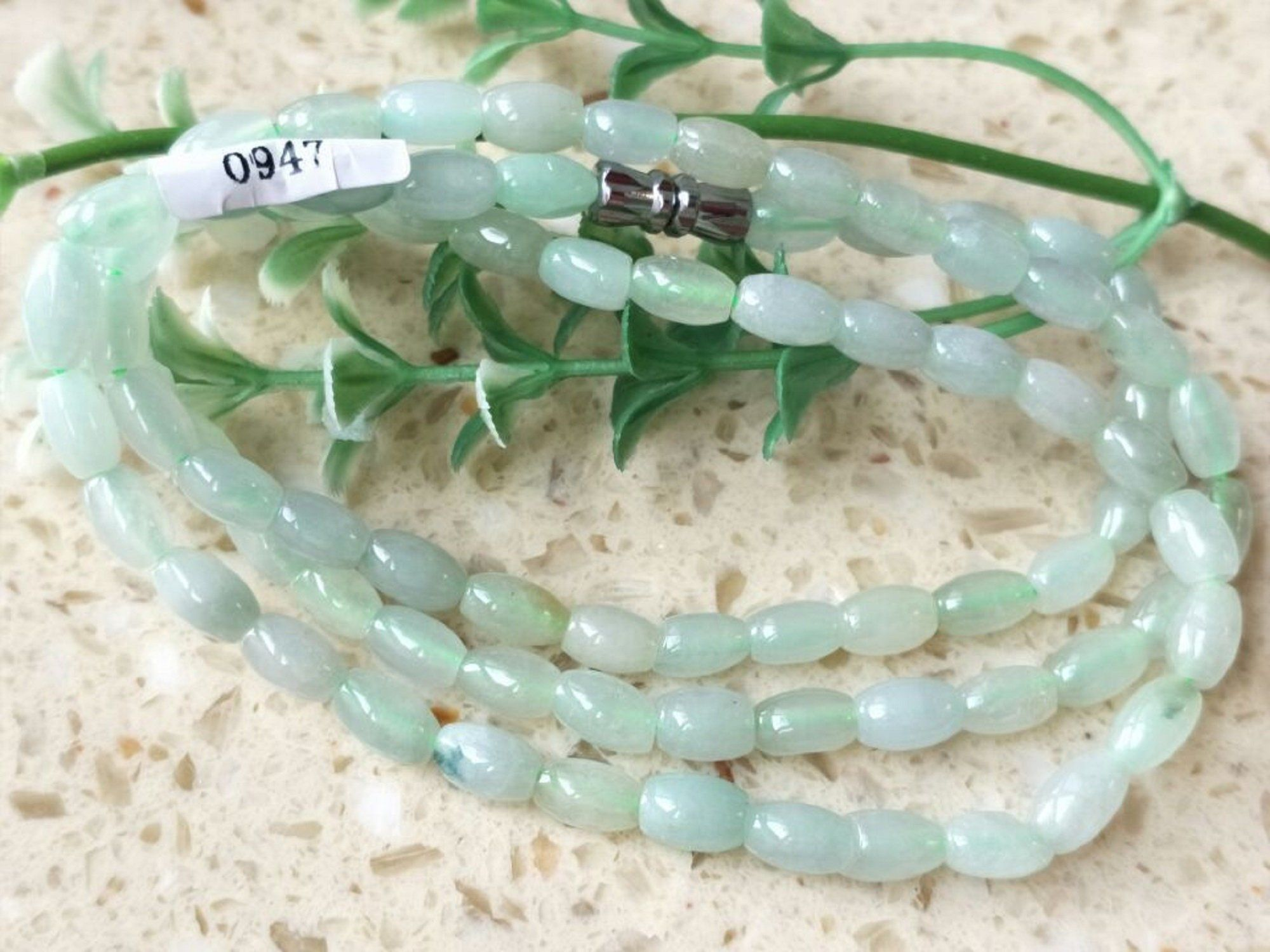 Certified Green Natural A Jade jadeite pendant Circle Bead Necklace 路路通 100/%