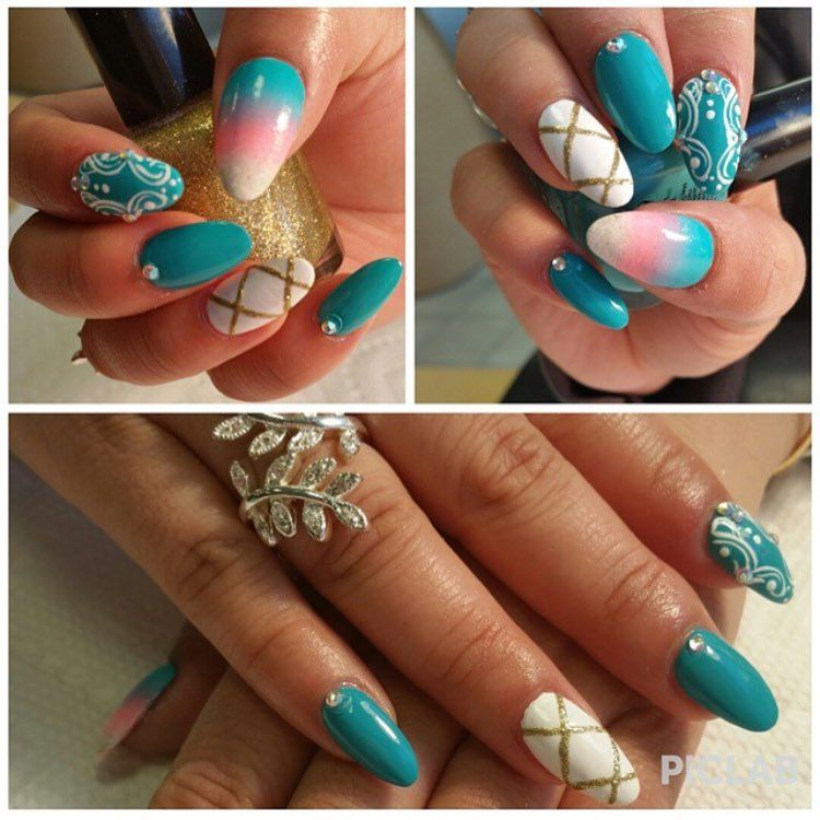 Nails  by Samantha! Every technician does  work! 718-597-8562 book appt now #Sumer #teal